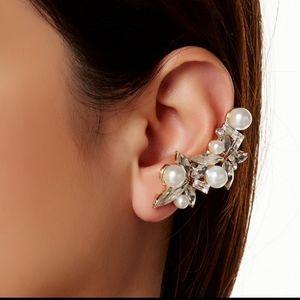 Pearl Stud & Wing cuff Earing